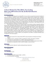 A Novel Method For MicroRNA, Non-Coding RNA and mRNA ...