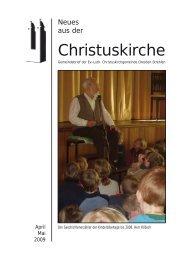 Gemeindebrief April und Mai 2009 als pdf - Ev.-Luth. Christuskirche ...
