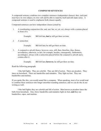 Compound Sentences vs. Complex Sentences | Sentence Worksheets