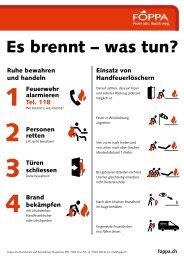 Merkblatt Verhalten im Brandfall - Foppa AG