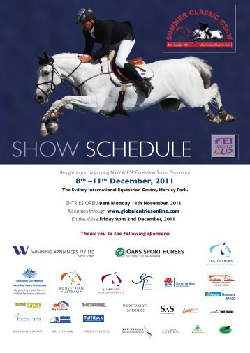 Summer Classic Event program - Jumping NSW - Equestrian Australia