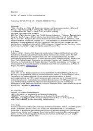 Biografien (pdf) - NÖ Dokumentationszentrum für moderne Kunst