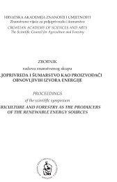 poljoprivreda i šumarstvo kao proizvođači obnovljivih izvora energije