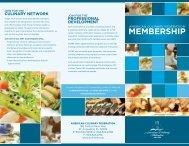 Membership Brochure - American Culinary Federation