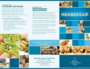 Membership Brochure - American Culinary Federation
