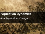 Population Dynamics - Science with Mr. Enns