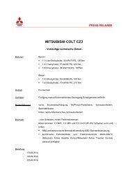 MITSUBISHI COLT CZ3 - MITSUBISHI MOTORS Deutschland