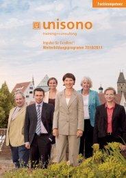 Weiterbildungsprogramm 2010/2011 Impulse für ... - stw unisono