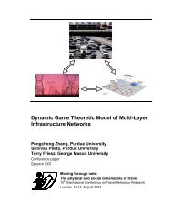Dynamic Game Theoretic Model of Multi-Layer Infrastructure ... - IVT