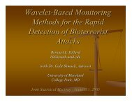 Wavelet-Based Monitoring Methods for the Rapid Detection of ...