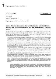 13.5230.02, Stellungnahme des RR - Grosser Rat - Kanton Basel ...