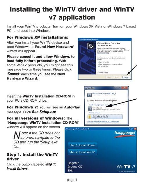 Wintv application