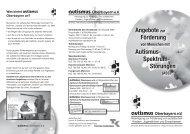 Angebote zur Förderung Autismus- Spektrum- Störungen