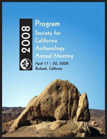Program - Society for California Archaeology