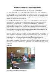 Zeitungsbericht Lehrgang Ostern 2009 - SV 1910 ...