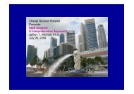 Changi General Hospital Presents: Staff Support: A comprehensive ...