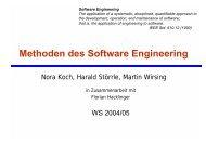 Methoden des Software Engineering - Programmierung und ...