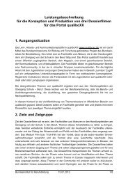 Leistungsbeschreibung qualiboXX-Planspiel - BiBB