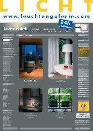 Wir planen Licht für Wohnhaus, Büro, Praxis ... - LeuchtenGalerie
