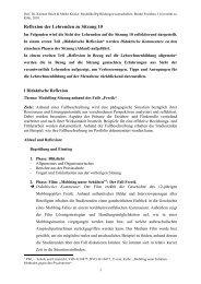 Reflexion der Lehrenden zu Sitzung 10 - Universität zu Köln