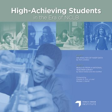 High-Achieving Students in the Era of NCLB - NAGC
