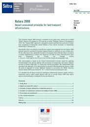 Natura 2000 - Impact assessment principles for land transport - Sétra