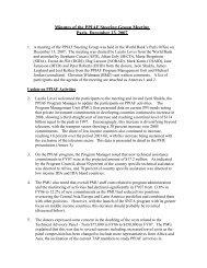 Minutes of the PPIAF Steering Group Meeting Paris, December 13 ...