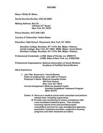 resume - Karen Weiss