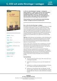 C, CO2 och andra föreningar i vardagen - SLI.se