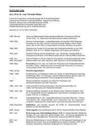 Curriculum vitae Univ.-Prof. Dr. med. Christian Weber - des Klinikums
