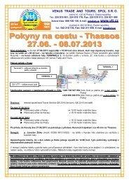 VENUS TRADE AND TOURS, SPOL. S R. O. - VTT