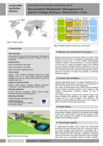 Decentralized Wastewater Management at Adarsh ... - SuSanA
