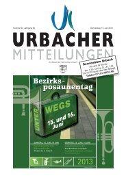 Mitteilungsblatt vom 13.06.2013 - Gemeinde Urbach