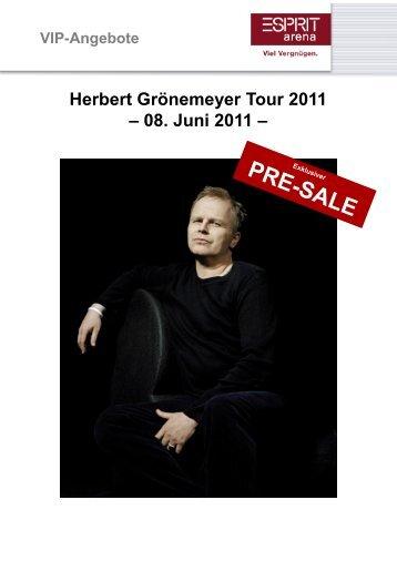 Herbert Grönemeyer Tour 2011 – 08. Juni 2011 – - Esprit Arena