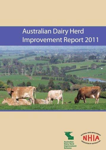 Download Australian Dairy Herd Improvement Report 2011 PDF