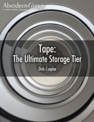 Tape, the Ultimate Tier of Storage - Aberdeen Group
