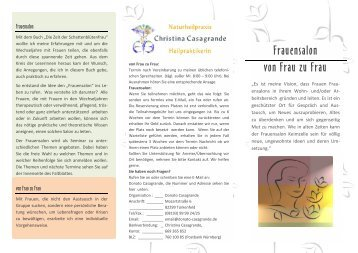 Frauensalon von Frau zu Frau - Christina Casagrande