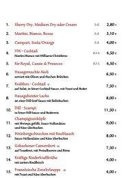 1. Sherry Dry, Medium Dry oder Cream 2,80 € 2 ... - Kolpinghaus