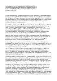 Stellungnahme von Mercedes-Benz Vertrieb Deutschland zur ...