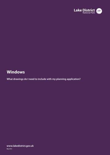 Windows guidance note (PDF) - Lake District National Park