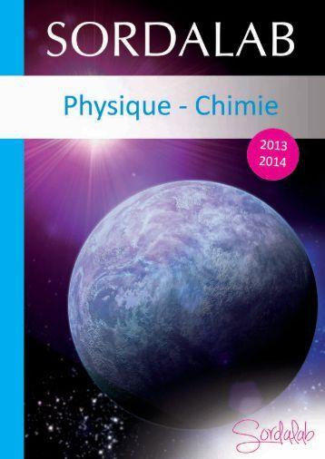 Catalogue Lycée Physique 2013-2014 - sordalab