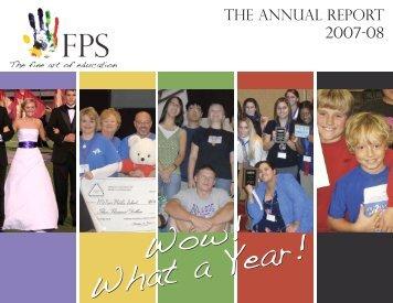 2007-08 Annual Report - Fayetteville Public Schools