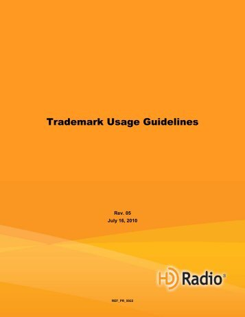 Trademark Usage Guidelines - iBiquity Digital