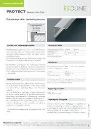Produktdatenblatt 230 PROTECT Edelstahl ... - Proline Systems
