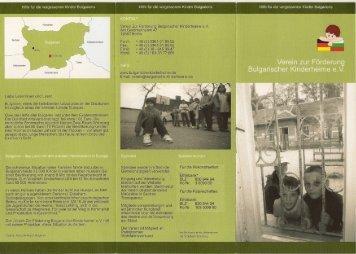 Sofia - Verein zur Förderung Bulgarischer Kinderheime eV