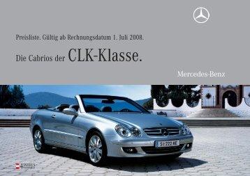 Die Cabrios der CLK-Klasse. - Mercedes Benz