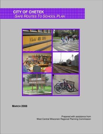 City of Chetek Safe Routes to School (SRTS) Plan - West Central ...