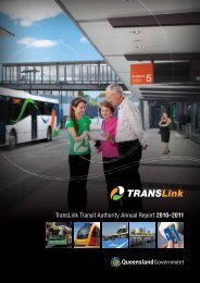 TransLink Transit Authority Annual Report 2010–2011 - Queensland ...