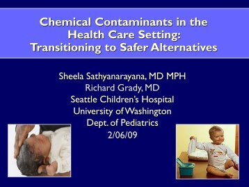 Chemical Contaminants in the Health Care Setting - Oregon ...
