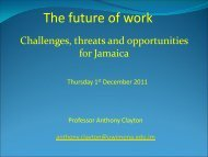 The future for UWI - Planning Institute of Jamaica